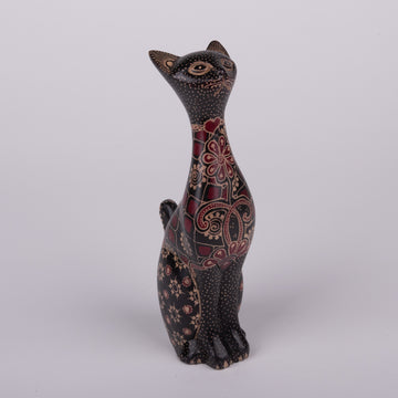 Batik Wooden Regal Cat