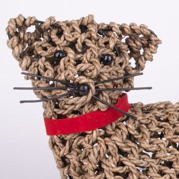 Cat Sculpture from Wire & Rope