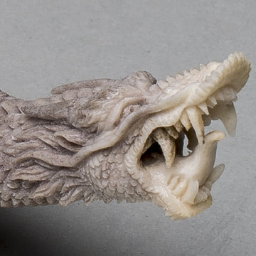Carved Antler Brings Out the Dragon