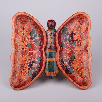 Beautifully Batik Decorative Butterfly Plate