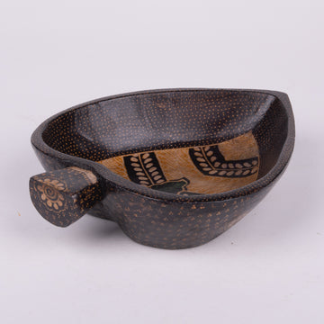 Batik Wooden Heart Bowl