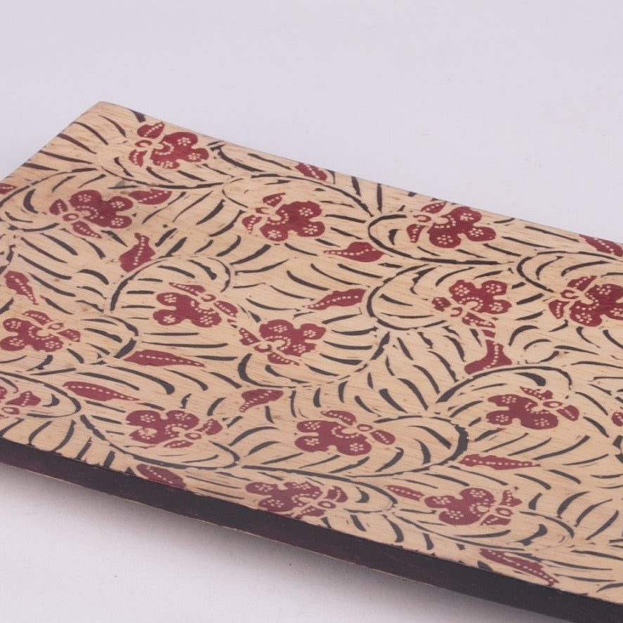 Batik Wooden Medium Rectangle Plates