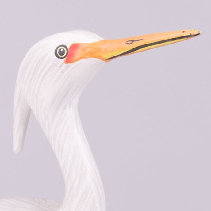 Hand Carved Shore Birds - Young Egret