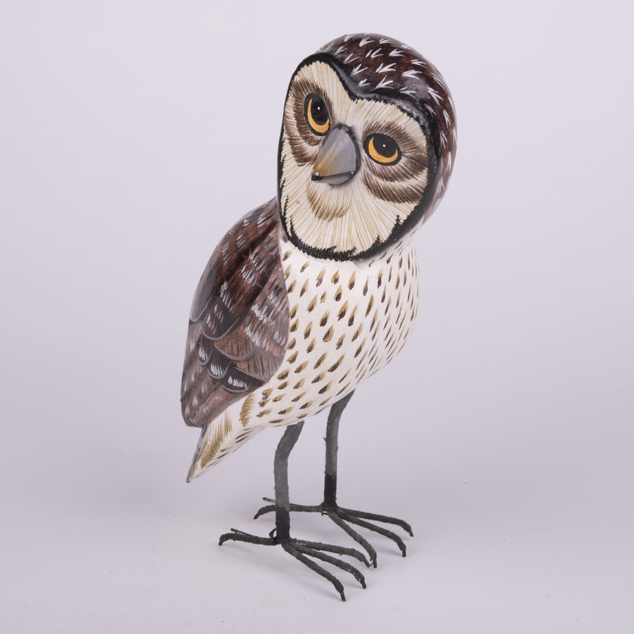 Hand Carved Owls - Barred Owl
