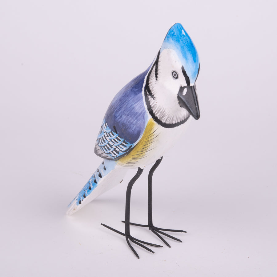 Hand Carved Birds - Blue Jay