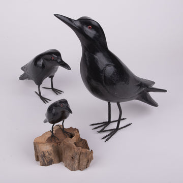 Hand Carved Birds - Crow