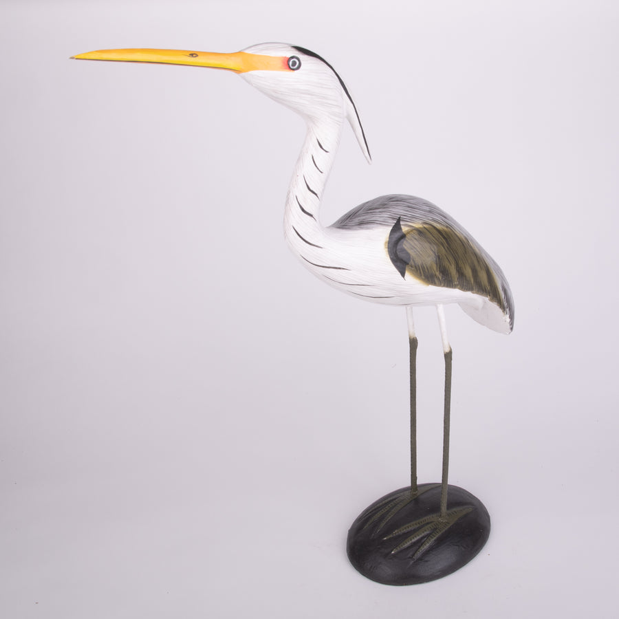 Hand Carved Shore Birds - Great Blue Heron