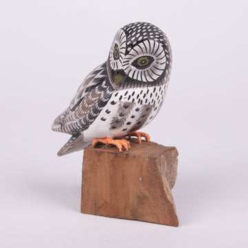 Hand Carved Owls - Grey Owl
