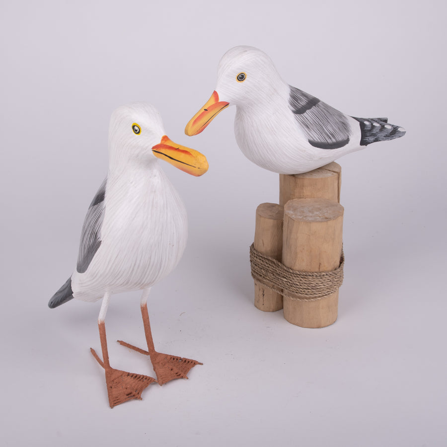 Hand Carved Birds - Herring Gull