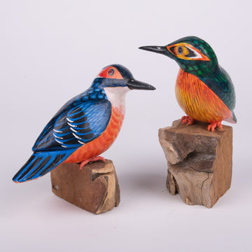 Hand Carved Birds - Kingfisher