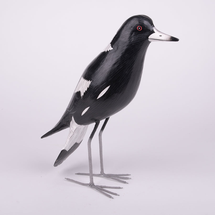 Hand Carved Birds - Magpie