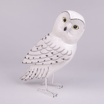 Hand Carved Owls - Snowy Owl