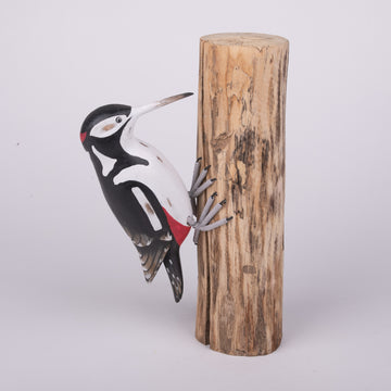 Hand Carved Birds - Downy Woodpecker