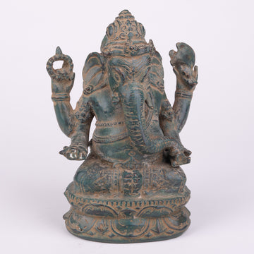 Antiqued Bronze Ganesha Sculpture