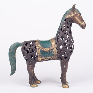A Very Regal Cast Bronze Horse