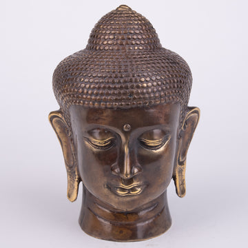 Serene Buddha Head Sculpture