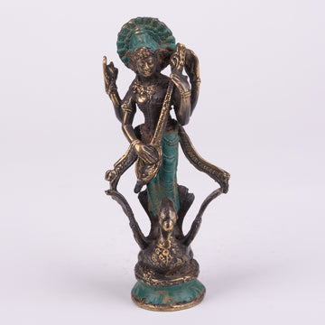 Saraswati on Bronze Swan