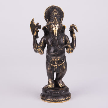 Ganesha, Standing Sculpture on Lotus Flower
