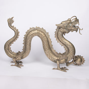Magnificent Asian Dragon Bronze Sculpture