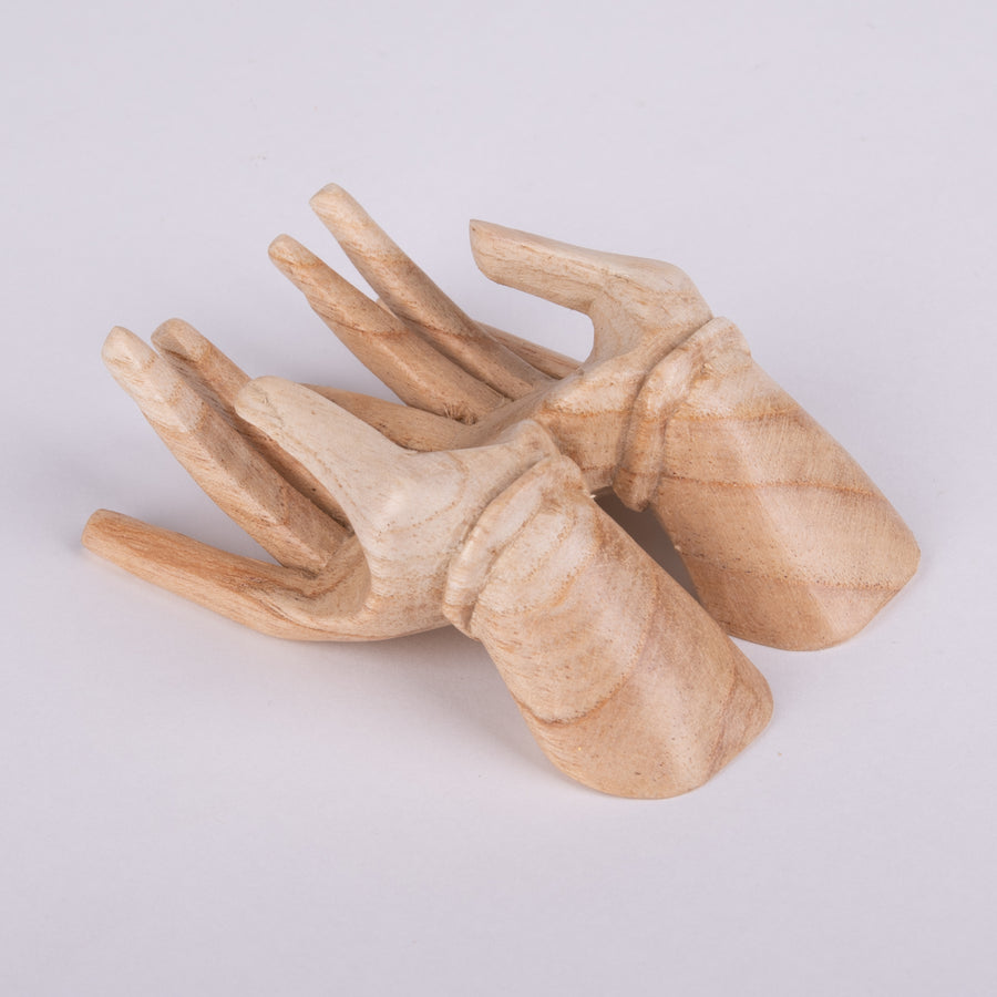 Wooden Hand Business Card Holders