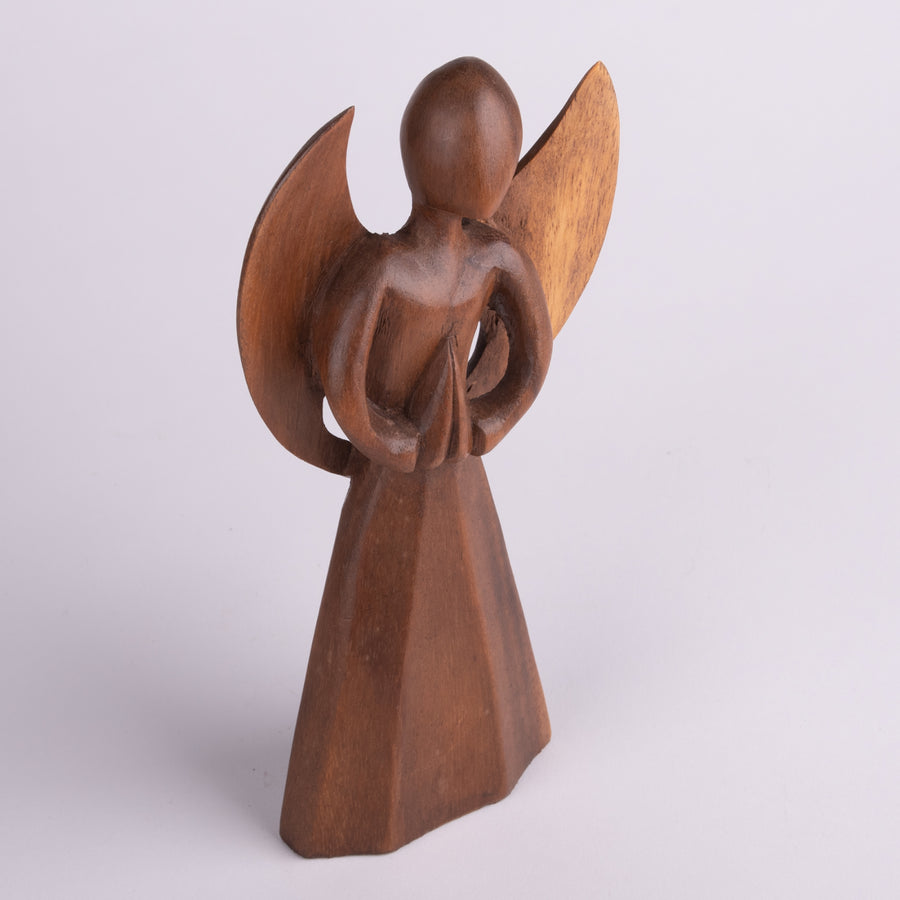 Carved Wooden Praying Angel