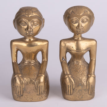 Loro Blanyo Golden Patina Bronze Couple