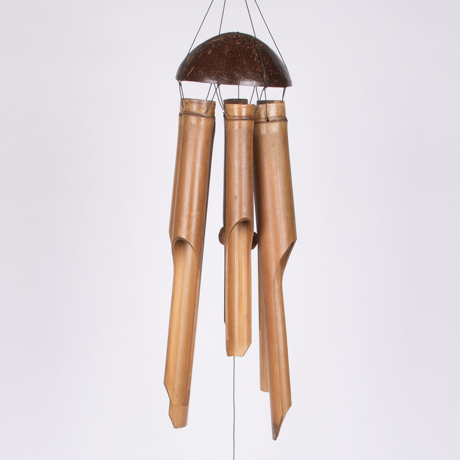Coconut & Bamboo Balinese wind chime Small