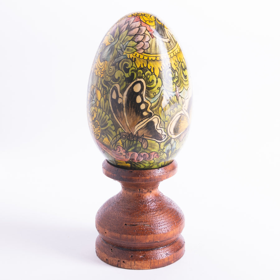 Exquisite Hand Painted Wooden Eggs Featuring Ganesha