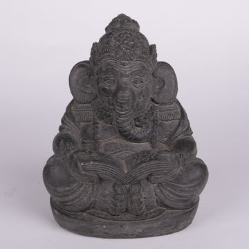 Stone Sculpture of a Wise Lord Ganesha