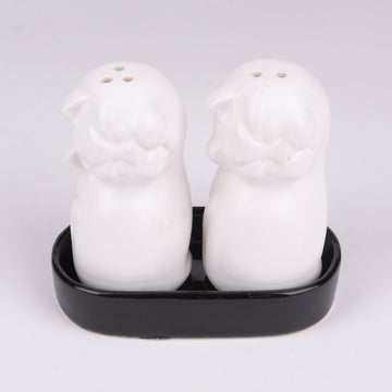 Ceramic Salt & Pepper Kitten Shakers