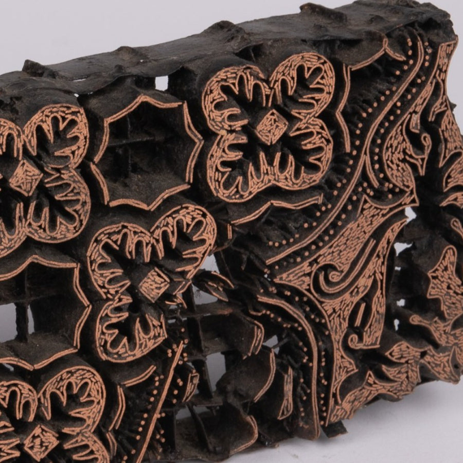Traditional Batik Copper Chops - Floral & Insects F