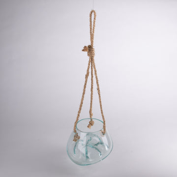 Melted Glass Sculpture with Hanger - Medium