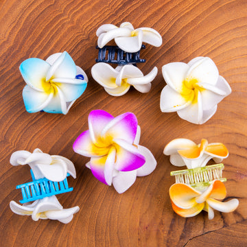 Flower Half-Claw Clips