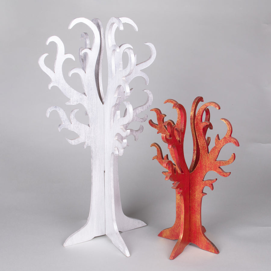 Contemporary 3-D Wooden Tree for Display