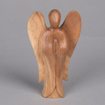 Small Carved Wooden Angel