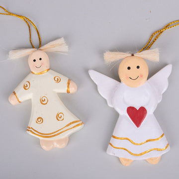 Ornaments - Angels with Hearts & Swirls