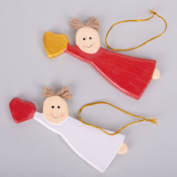 Ornaments - Angel Flying with Heart