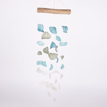 Sea Glass of Blues Waterfall Wind Chimes