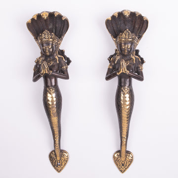 Mermaid Bronze Sculpture & Door Handle