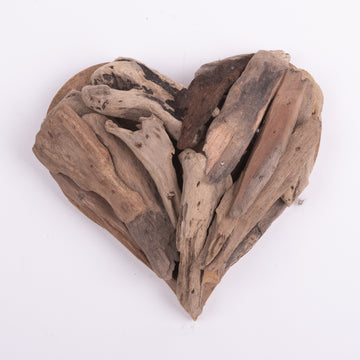 Hanging Hearts of Driftwood