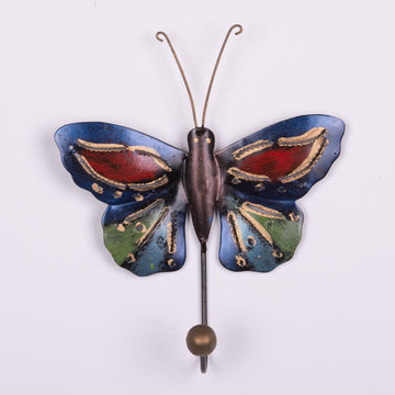 Painted Tin Butterfly Hooks