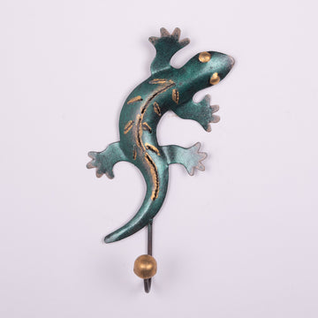 Painted Tin Gecko Hooks