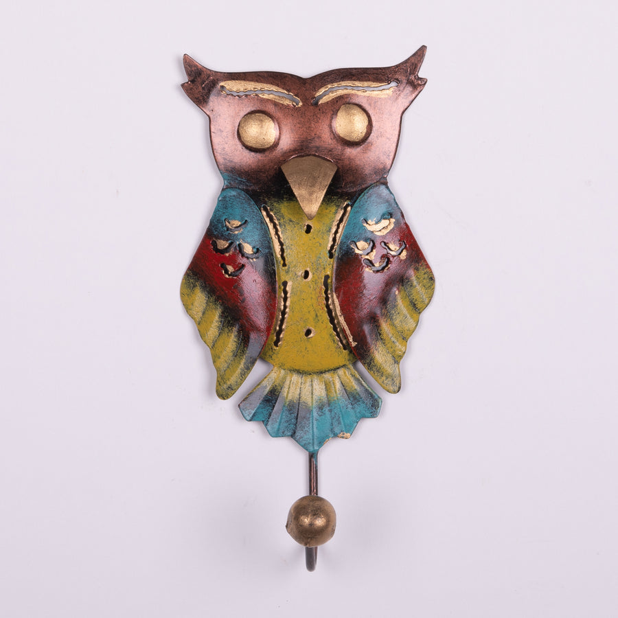 Painted Tin Owl Hooks