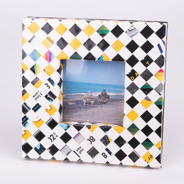 Recycled Woven Small Square Photo Frame