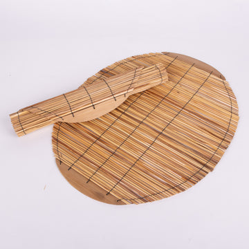Rustic Oval Reed Placemat Set