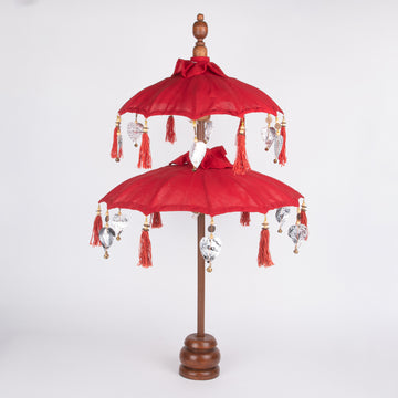 Festive Table Top Double Umbrella