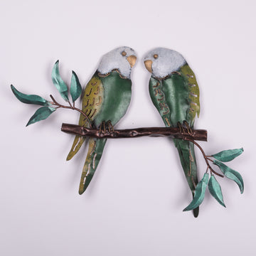 Tin Bird Art - Parrots on the Wall