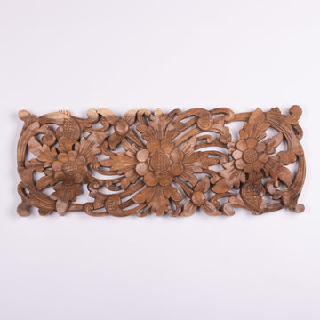 Balinese Hand Carved Floral Panel Lintel