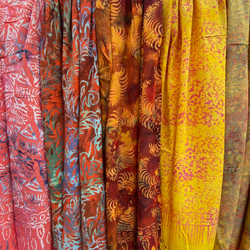 Delicious Rayon Sarongs - Sunshine Orange Group
