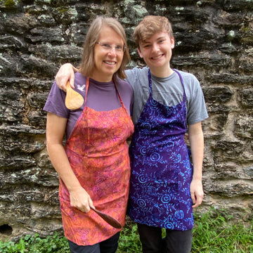 Colorful Batik Kitchen Aprons